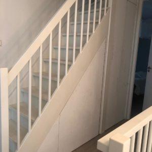 Inbouwkast trappengat